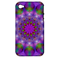 Rainbow At Dusk, Abstract Star Of Light Apple Iphone 4/4s Hardshell Case (pc+silicone) by DianeClancy