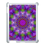 Rainbow At Dusk, Abstract Star Of Light Apple iPad 3/4 Case (White) Front