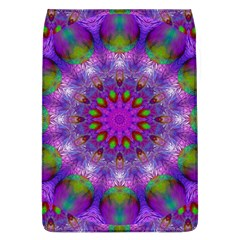 Rainbow At Dusk, Abstract Star Of Light Removable Flap Cover (large) by DianeClancy