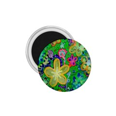 Beautiful Flower Power Batik 1 75  Button Magnet by rokinronda