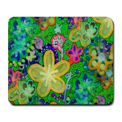 Beautiful Flower Power Batik Large Mouse Pad (rectangle) by rokinronda