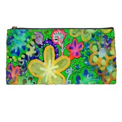 Beautiful Flower Power Batik Pencil Case by rokinronda