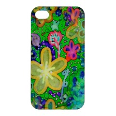 Beautiful Flower Power Batik Apple Iphone 4/4s Premium Hardshell Case by rokinronda