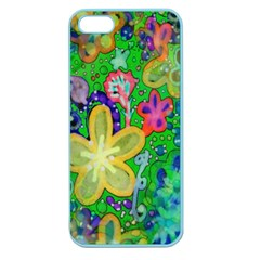 Beautiful Flower Power Batik Apple Seamless Iphone 5 Case (color) by rokinronda