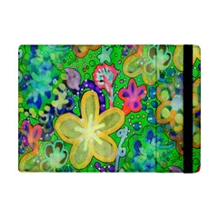 Beautiful Flower Power Batik Apple Ipad Mini Flip Case by rokinronda