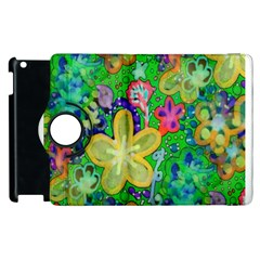 Beautiful Flower Power Batik Apple Ipad 2 Flip 360 Case by rokinronda