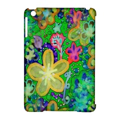 Beautiful Flower Power Batik Apple Ipad Mini Hardshell Case (compatible With Smart Cover)