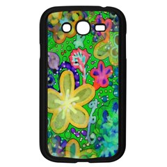 Beautiful Flower Power Batik Samsung Galaxy Grand Duos I9082 Case (black) by rokinronda