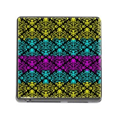 Cmyk Damask Flourish Pattern Memory Card Reader With Storage (square) by DDesigns