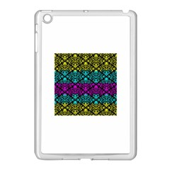 Cmyk Damask Flourish Pattern Apple Ipad Mini Case (white) by DDesigns