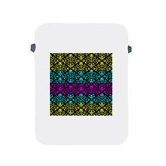 Cmyk Damask Flourish Pattern Apple Ipad Protective Sleeve by DDesigns