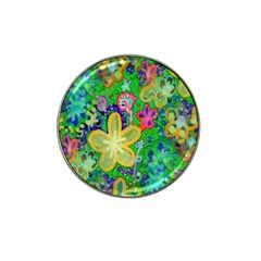 Beautiful Flower Power Batik Golf Ball Marker 10 Pack (for Hat Clip) by rokinronda
