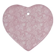 Elegant Vintage Paisley  Heart Ornament (two Sides) by StuffOrSomething