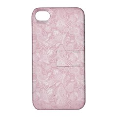 Elegant Vintage Paisley  Apple Iphone 4/4s Hardshell Case With Stand