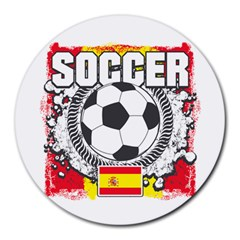 Soccer Spain Round Mousepad
