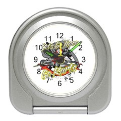 Lets Race Go Karts Travel Alarm Clock by MegaSportsFan