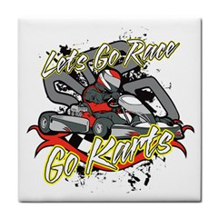 Lets Race Go Karts Face Towel by MegaSportsFan