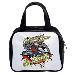 Lets Race Go Karts Classic Handbag (two Sides) by MegaSportsFan
