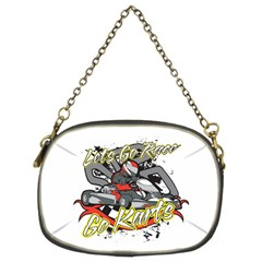 Lets Race Go Karts Chain Purse (two Sides)