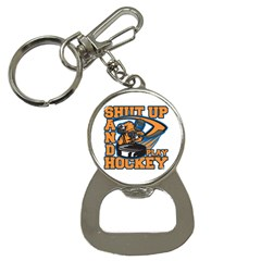 Shut Up And Play Hockey Bottle Opener Key Chain by MegaSportsFan
