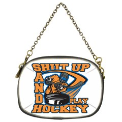 Shut Up And Play Hockey Chain Purse (two Sides)