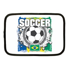 Soccer Brazil Netbook Case (medium) by MegaSportsFan