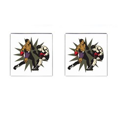 Knockout Boxing Cufflinks (square) by MegaSportsFan