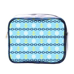 Anchors & Boat Wheels Mini Travel Toiletry Bag (one Side)