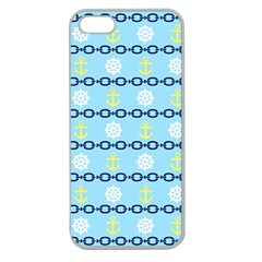 Anchors & Boat Wheels Apple Seamless Iphone 5 Case (clear)