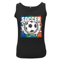 Soccer South Africa Women s Black Tank Top