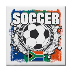 Soccer South Africa Tile Coaster by MegaSportsFan