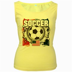 Soccer United States Of America Women s Yellow Tank Top by MegaSportsFan