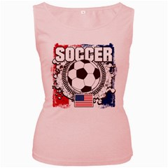 Soccer United States Of America Women s Pink Tank Top by MegaSportsFan