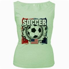 Soccer United States Of America Women s Green Tank Top by MegaSportsFan