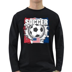 Soccer United States Of America Long Sleeve Dark T Shirt by MegaSportsFan