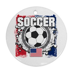 Soccer United States Of America Ornament (round) by MegaSportsFan