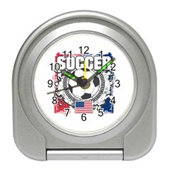 Soccer United States Of America Travel Alarm Clock by MegaSportsFan