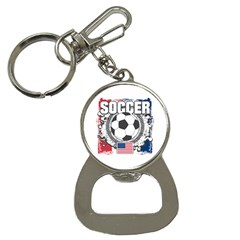 Soccer United States Of America Bottle Opener Key Chain by MegaSportsFan
