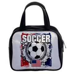 Soccer United States Of America Classic Handbag (two Sides) by MegaSportsFan