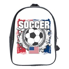 Soccer United States Of America School Bag (large) by MegaSportsFan