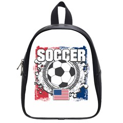 Soccer United States Of America School Bag (small) by MegaSportsFan