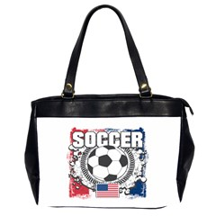 Soccer United States Of America Oversize Office Handbag (two Sides) by MegaSportsFan