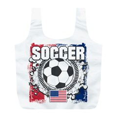 Soccer United States Of America Full Print Recycle Bag (l) by MegaSportsFan