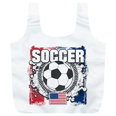 Soccer United States Of America Full Print Recycle Bag (xl) by MegaSportsFan