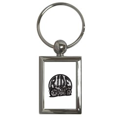 Ride Vintage Motorcycles Key Chain (rectangle) by creationsbytom