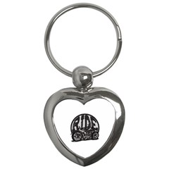 Ride Vintage Motorcycles Key Chain (heart) by creationsbytom