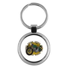 Vintage Style Motorcycle Key Chain (round) by creationsbytom