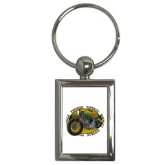 Vintage Style Motorcycle Key Chain (rectangle) by creationsbytom