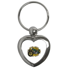 Vintage Style Motorcycle Key Chain (heart) by creationsbytom
