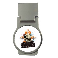 Skull Classic Motorcycle Money Clip (round) by creationsbytom